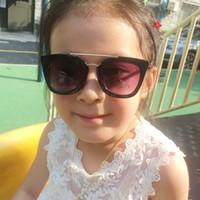 Wholesale stylish cool sunglasses resale online - 2019 Summer boys girls fashion UV400 metal leg glasses children kids sunglasses cool glasses oculos de sol stylish eyewear n543