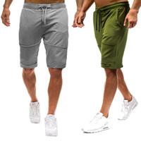 europäische kleidergrößen männer großhandel-European Men Clothing Shorts Einfarbig Schwarz Grau Sommer Casual Hosen und Shorts Plus Size M-2XL