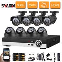 kubbe cctv 8ch toptan satış-8CH CCTV Sistemi 8CH DVR NVR 8 ADET Açık Dome Kapalı Kameralar Ev Güvenlik Video Kamera Sistemi Gözetim Kitleri