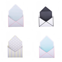 Wholesale boxes stripe pink resale online - Mini Envelope Type Packing Box Circle Dot Stripe Rose Flower Boxes Collapsible Exquisite Paper Pink Blue The New xy C1