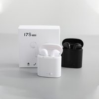 Wholesale headband earbuds resale online - Hot I7S I7 TWS Bluetooth Headphones Twins Earbuds Mini Wireless Earphones Headset with Mic Stereo V5 for phone Android with retail Package
