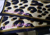 frauenbeutelhandgriff groihandel-Leopardenmuster Schal 47,2 In Ultra Länge 100% Seide Griff Schal Kleines Band Haar Frau Stirnband Tasche