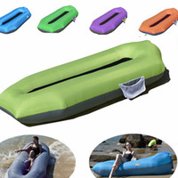 Wholesale couch bags resale online - inflatable Air Sofa Bed Lazy Sleeping Camping Bag Beach Lounger Couch land and water can use Air Sofa LJJK2145