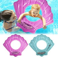 Wholesale inflatable infant swim ring resale online - Shell Shape Amusing Safety Inflatable Baby Swimming Ring Infant Float Circle Bathing Water Toys Kids Summer Swimming Circles for Kids Gifts