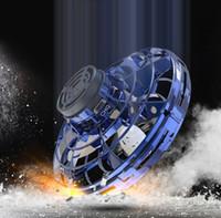 ingrosso i bambini del giocattolo del disco di volo-In 3 Stock Colour Flynova volante UFO Spinner Rotary di ricarica USB Flying Disc a mano Drone con brillanti luci a LED per bambini giocattoli dei regali B1
