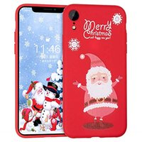 Wholesale santa christmas silicone case for sale - Group buy Christmas Case for iPhone Xs Max Merry Christmas Soft Silicone TPU D Cute Snowman Santa Elk Pattern Pretty Cute Premium Flexible Case Gift