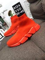 ingrosso calzini di lana rossa-New fashion donna designer calze scarpe uomo lana alta top tripli migliori sneakers di lusso in vera pelle bianco rosso