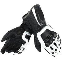 weiße schwarze motorradhandschuhe großhandel-4-Takt SCP-Handschuhe Motorrad Motocross Herren Racing Dain Lederhandschuhe Schwarz / Weiß
