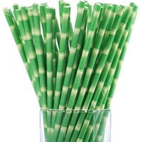 ingrosso bambù per bar-Commercio all'ingrosso di alta qualità 19.7 cm monouso bolla di tè di bambù spessa cannucce di carta per bar compleanno festa nuziale paglia