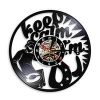vinil müzik duvar dekor toptan satış-DJ Pikaplar Duvar Saati Modern Tasarım Hip Hop Müzik Vinil Kayıt Saati Yaratıcı Duvar Sanatı Decor-01