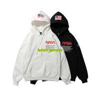 хип-спорт оптовых-Новый НАСА Hoodie Hip Hop Street Sport Мужские дизайнерские толстовки Свободная посадка Heron Preston Пуловер Толстовка