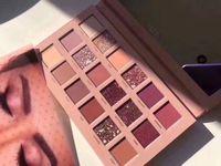 paletas de maquillaje brillo al por mayor-Beauty Glazed The New Nude Palette Matte Paleta de sombras de ojos Shimmer Palette El mismo color con Hudas Matte Smokey Contour maquillaje