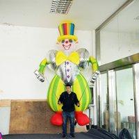 globos de aire largos al por mayor-Payaso inflable de dibujos animados personalizado y duradero con globo de aire Planificador de eventos Exhibición de actividad comercial