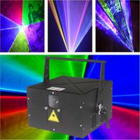 dj ausrüstung freies verschiffen großhandel-Freies Verschiffen im Freien 4W RGB Color Club Laser-Disco-Laserlicht-Erscheinen-Projektor DJ-Ausrüstung Partei-Laser-Beleuchtung