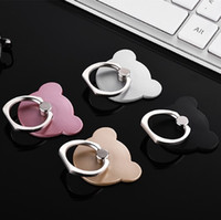 Wholesale phone holder cartoon for sale – best Phone Ring Holder Cartoon bear Head Cell Phone Stand Creative High Adhesive Force Good Quality Figure Ring Car bracket