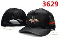 design de broderie gratuit achat en gros de-De haute qualité casquette de golf 100% coton design classique casquettes abeille broderie chapeaux pour hommes casquette 6 panneau noir os Snapback Baseball Hat Free-Shipping