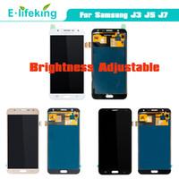 toque samsung lcd al por mayor-Para Samsung Galaxy J3 J5 J7 2015 Pantalla LCD táctil para Samsung J320 J500 J700 Reemplazo del ensamblaje de LCD de calidad superior
