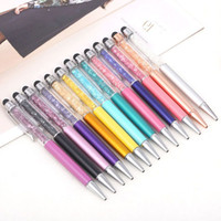 Wholesale chinese touch pads resale online - in Crystal Point Diamond Stylus Screen Capacitive Touch Stylus Pen for Universal Pad Tablet Ball Point Pen