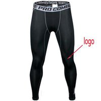 enge lycra legging großhandel-Mode 2018 Männer NK Pro Kampf athletisch dünne Kompression Basketball Training Legging Run Gym Track Sport enge Hosen Fitness