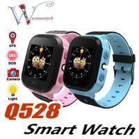 Wholesale gprs remote control resale online - Q528 Kids Smart Watch Kid SmartWatch Inch Touch Screen SOS Emergency GPRS Alarm Camera Anti lost Clock Wristwatch Baby Clock