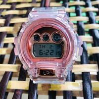 wasserdichte stoßfeste uhr großhandel-35-jähriges Jubiläum Transparente DW6900 Digital G Unisex-Uhr DW5600 Wasserdichte und stoßfeste Weltzeit-LED-Anzeige Normal