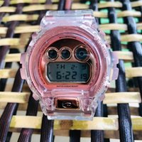 Wholesale display plastic tags resale online - 35th Anniversary Transparent DW6900 Digital G Unisex Watch DW5600 Waterproof and Shockproof World Time LED Display Normal
