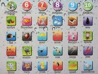 образовательный английский планшет оптовых-Действие игрушки цифры дети дети планшет PAD образования обучения игрушки подарок для девочек мальчиков детские китайский английский