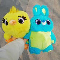 peluche pato amarillo al por mayor-Juguete 4 Ducky Bunny juguetes de peluche pato amarillo conejo azul conejito de peluche muñeca suave para los niños cumpleaños regalo de Navidad