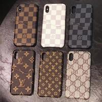 iphone5 кошельки оптовых-Мода слот для карты телефона чехол для iPhone X XS MAX XR 8 7 6 Plus сумка стиль печати кожи задняя крышка чехол для iPhoneX 7 плюс 8 плюс