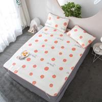 kühlkissenauflage großhandel-Sommer Cool Ice Silk Bed Supplies Set-Mat Matratzenauflage mit 2 Kissenbezügen