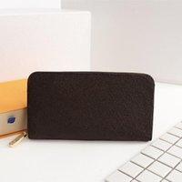 erkek cüzdan boyutu toptan satış-ZIPPY lüks cüzdan erkekler kadınlar kartvizitlik moda porte cartes lüks tasarımcı cüzdan boyutu 19 * 10 cm modeli M60017