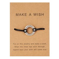 b7c5cee7f2ff Black Rope Round Charm Bracelets for Family Women Men Mother Grandma Sister  Friends Letters Weave Braid Bracelet Friendship Gift