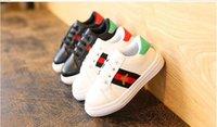 zapatos de niños al por mayor-2019 nueva primavera verano otoño nueva moda pequeños zapatos blancos deportes niño moda niños s zapatos 26-36cm