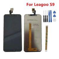 сенсорный экран дисплея lcd телефона оптовых-Для Leagoo S9 ЖК-дисплей 5.85 дюймов + сенсорный экран Digitzer Ассамблеи ремонт панели стеклянные аксессуары для Leagoo S9 сотовый телефон частей