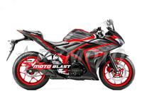 kit abs pour moto achat en gros de-Haute qualité Nouvelle Injection ABS Moule Moto en plastique Carénage Kit Pour YAMAHA R3 R25 2015 2016 15 16 Carénages Carrosserie ensemble rouge noir sympa