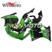 93 zx11 kaplamaları toptan satış-Elf Yeşil Siyah Kawasaki ZXR250 Ninja Için Komple Kaportalar 1991-1997 ZX-R250 92 93 94 95 96 ABS Plastik Motosiklet Carenes Elf Yeşil Siyah