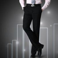 человек china chant оптовых-Man Spring 2019 China Inported Clothes Mens Pants Big Size Black Male Suit Pants Slim Fit Business Trousers