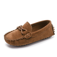 Wholesale baby moccasins cow leather resale online - Kids Moccasin Loafers Shoes Boys Fashion Sneakers Children Massage Casual Shoes Baby Girls Flat Leather Size