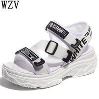 35052ef083 Coreano 2019 Novas mulheres Casuais sandálias Plataforma de fundo grosso  Sandálias Peep toe Sapatos Mulher fivelas Casuais K04
