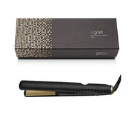 Wholesale electric hair straighteners resale online - Electric Ceramic V Gold Max Hair Straightener Classic Professional styler Fast Hair Straighteners Iron Hair Styling tool Epacket free