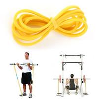 crossfit bande rouge achat en gros de-Bande de latex élastique, Fitness, entraînement physique, entraînement, bande de résistance Crossfit, jaune bleu, vert, rouge