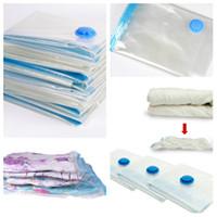bombas de vácuo venda por atacado-Saco de armazenamento de vácuo saco de compressão de roupa colcha bomba de ar saco selado usado para organizar armário wardrobeT2I5106