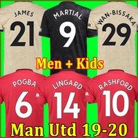 shirt erkekler için toptan satış-Tayland FC Manchester United futbol forması soccer jersey football shirt 2019 2020 Pogba Lingard Lukaku RASHFORD MARTIAL futbol forması Utd 18 19 20 üniformalar MAN formaları