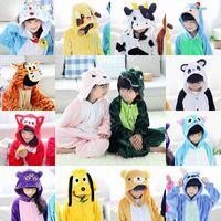 tier hoodie pyjamas groihandel-Einhorn Kinder Regenbogen-Maskottchen Einhorn Baby-Body Kostüm Cartooon Hoodies Robes Tier Pyjamas Jumpsuit Kostüm
