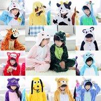 pijama sutyen toptan satış-Unicorn Çocuklar Gökkuşağı Maskot Unicorn onesie kostüm Cartooon Kapüşonlular Elbiseler hayvan pijama Tulum kostüm