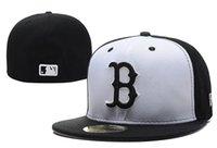 цвет продажи шляпы оптовых-Хорошие продажи Нового Boston Red В Полном Черного цвете Встроенных плоских шляпы Сокс Вышитой Closed Caps Chapeu Hip Hop Design