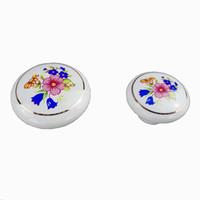 цветочные двери тянет оптовых-Классическая керамика цветы мебельные ручки двери ящик шкаф кухонные шкафы шкаф комод обувная коробка ручка тянуть ручки