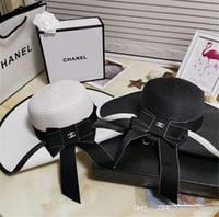 sombreros de ala para la venta al por mayor-dropshipping venta caliente de ala ancha sombreros del sol para las mujeres carta bordado paja sombreros niñas no molestar señoras sombreros de paja