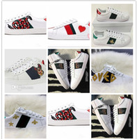 Wholesale clay fruits resale online - Ace Shoes Designer Shoes Casual Sneakers brand embroidery bee flowers tigers fruit dragon Men and Women Sneakers
