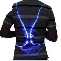 kleiderweste großhandel-Lumineszenz-Weste führte Weste Sport ärmellose Kleidungsstück Farbe Nachtlaufen Reiten reflektierende Licht Engel Flügel sicher 25